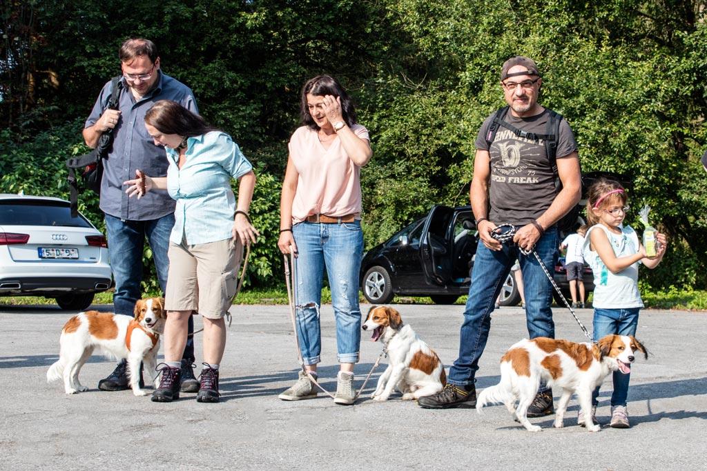 Deirdra, Dotty und Dori bei Reinhard, Dagmar, Jana, Arash und Hanna